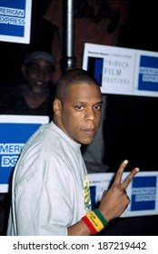 Jay-Z at premiere of DEATH OF A DYNASY at the Tribeca Film Festival, NY 5/7/2003