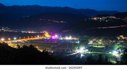 JAZ, MONTENEGRO - JULY 16: View of the SEA DANCE Music Festival area  - EXIT ADVENTURE, on July 16, 2014  at the Jaz beach near Budva, Montenegro.