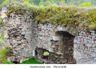 Jazlovets castle spring  ruins, Buchach District, Ternopil Region, Ukraine.  It was built from the 14th  to the 17th century.