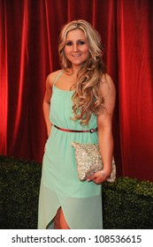 Jazmine Franks arriving for the British Soap Awards 2012 at London TV Centre, South Bank, London. 28/04/2012 Picture by: Steve Vas / Featureflash