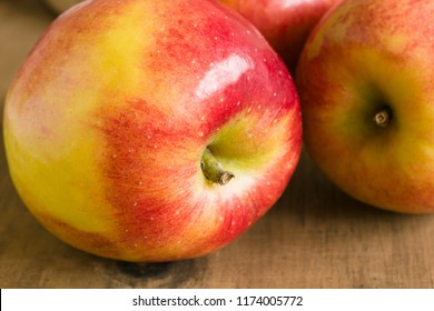 Jazz Apples or cultivar Malus domestica Scifresh a hybrid of Royal Gala and Braeburn developed in New Zealand