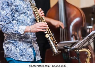 Jazz band. Teaching jazz.