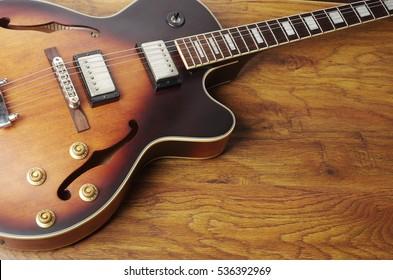 Jazz electric hollowbody guitar.