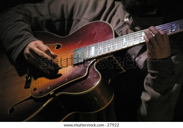 jazz guitarist in local club