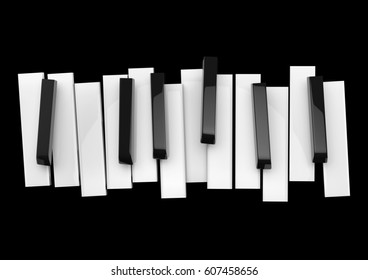 Jazz music festival, poster background template. Music piano keyboard.
