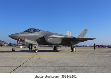 JB Andrews AFB, 9/18/2015. A F-35 Lighting II from Eglin AFB is on display at the JB Andrews AFB 2015 Airshow