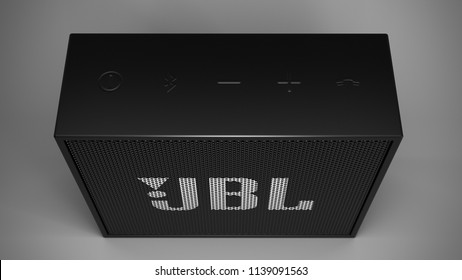 JBL Go -black  -top -centered
