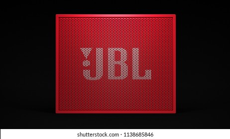 JBL Go - red -total -front -centered