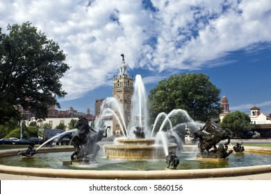J.C. Nichols Fountain in the Plaza district of Kansas City