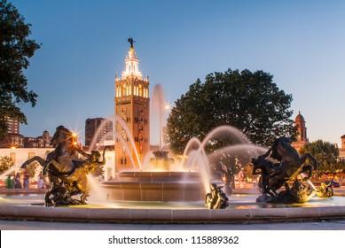 J.C. Nichols Memorial Fountain, by Henri-Leon Greber in Kansas City Missouri