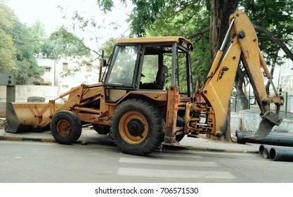 JCB work vehicle