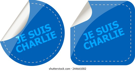 Je Suis Charlie text on web icon