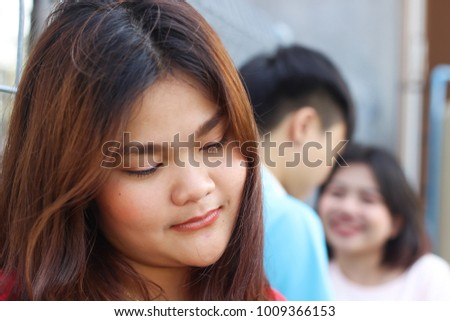 Jealousy Teenage Relationship Problem Stock Photo Edit Now