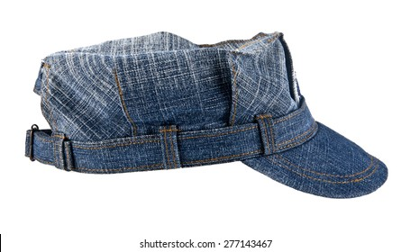 jean cap on a white background