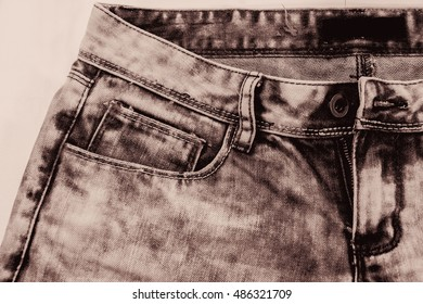 jean or denim with color tone effect