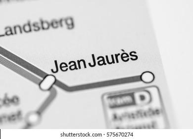 Jean Jaures Station. Strasbourg Metro map.