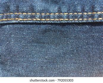 Jean seam horizontal