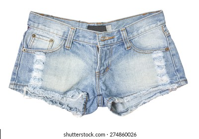 Jean shorts isolated
