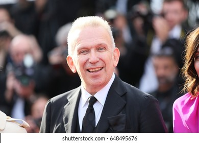 Jean-Paul Gaultier attends the 70th Anniversary of the 70th annual Cannes Film Festival at Palais des Festivals on May 23, 2017 in Cannes, France.