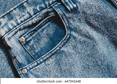 Jeans background, denim with seam of fashion design