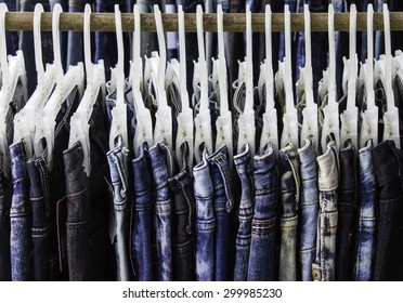 jeans Background jeans hanging around.