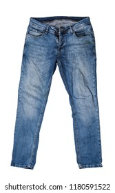 Jeans background isolated white background;
