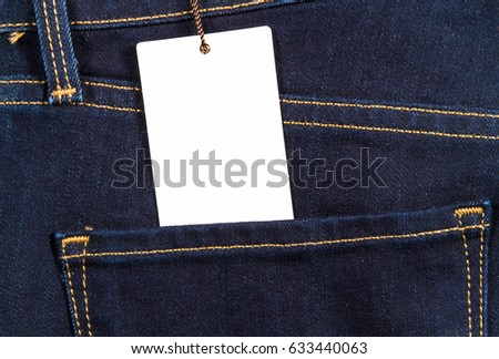 85b239b58fc Jeans Clothes Trousers Material Purchase Label Stock Photo (Edit Now ...