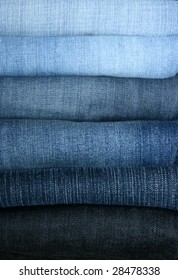 Jeans combined in a pile