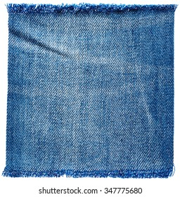 Jeans fabric isolated on white background