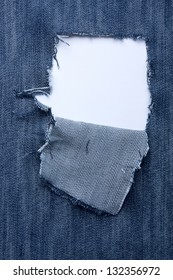 Jeans with holes  and a place for text