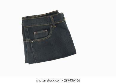jeans isolate on white background