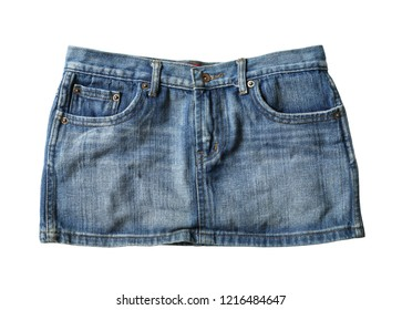 edd65ae45 Jeans mini skirt (with clipping path) isolated on white background