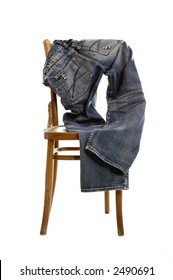 Jeans on chair