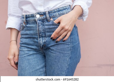 Jeans on a woman