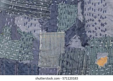 jeans patchwork texture denim