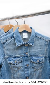 Jeans shirt on hanger For casual life style