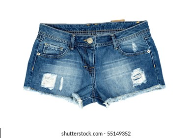 Jeans shorts isolated on a background