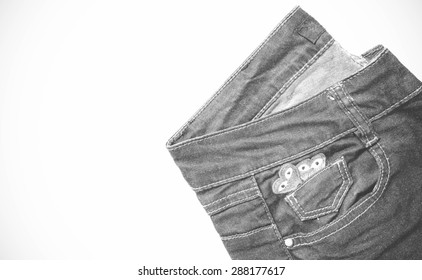 Jeans style black and white