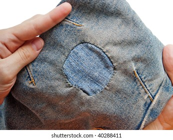 Jeans textile textured material patch background