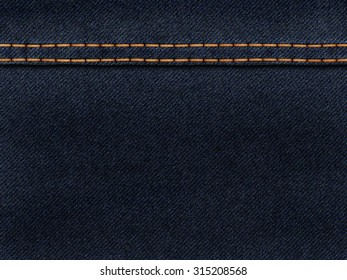 Jeans texture with stitches
