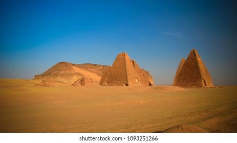 Jebel Barkal mountain and Pyramids in Karima Nubia, Sudan