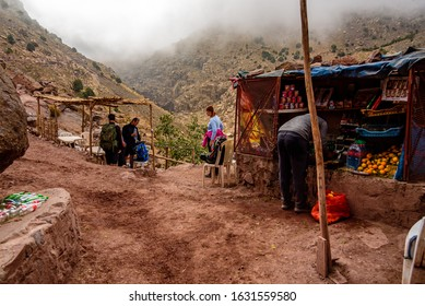 Jebel Toubkal, Morocco, October 2019 - There are several checkpoints on the way to the summit of Jebel Toubkal. Your passport will be checked and you can refill some drinks.