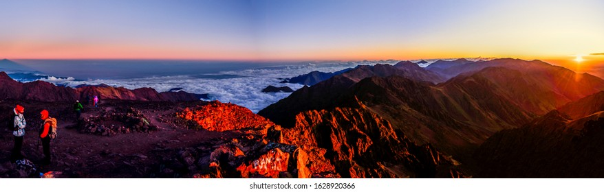 Jebel Toubkal, Morocoo, October 2019 - Toubkal is a mountain peak in Morocco, located in the Toubkal National Park. At 4,167 metres, it is the highest peak in the Atlas Mountains and Morocco.