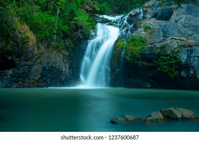 Jed Khot waterfall in The Nature Education Center and ecotourism Jed-Khot - Pong Kon-sao in Keang Koi,Saraburi,Thailand.