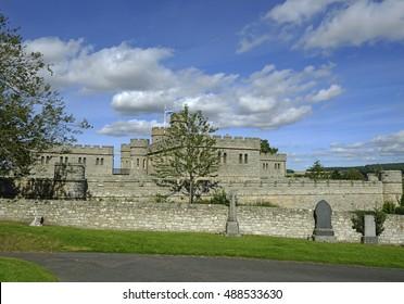 Jedburgh castle in Scotland, United Kingdom