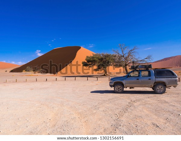Jeep Front Sand Dunes Dune 45 Stock Photo Edit Now 1302156691