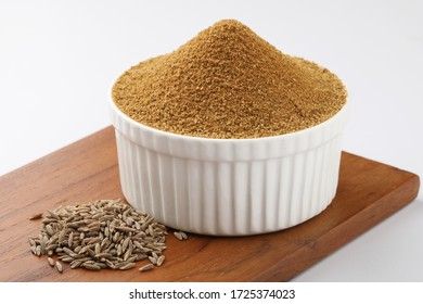 jeera or cumin powder with cumin, Indian spice and Indian curry ingredient