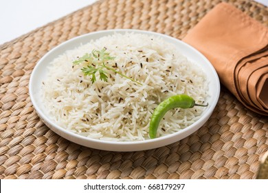 Jeera rice , basmati rice flavored with fried cumin seeds