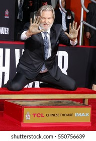 Jeff Bridges at Jeff Bridges Hand And Footprint Ceremony held at the TCL Chinese Theatre IMAX in Hollywood, USA on January 6, 2017.