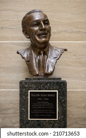 JEFFERSON CITY, MISSOURI - JULY 21: Statue of Walt Disney in the Missouri State Capitol on July 21, 2014 in Jefferson City, Missouri